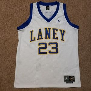 Michael Jordan White High School Laney Jersey 23 L